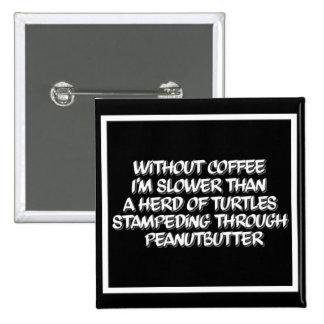 Coffee Lag Square Coffee Humor Button