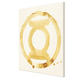 Coffee Lantern Symbol Canvas Print