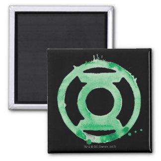 Coffee Lantern Symbol - Green Square Magnet