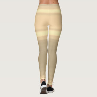 Coffee Latte Cappuccino Shorts Brown Ombre Lines Leggings