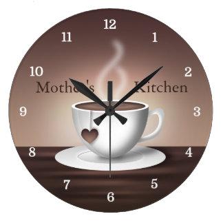 Coffee Latte Kitchen Clock