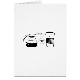 Coffee Latte Valentine's Love Card