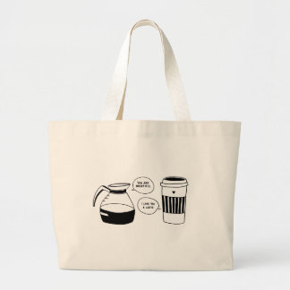 Coffee Latte Valentine's Love Large Tote Bag