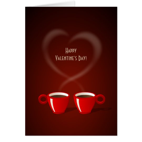 Coffee Love Valentine's Day card