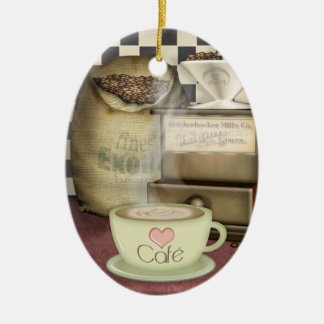 Coffee Lover Café Christmas Ornament