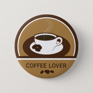 Coffee Lover Coffee Cup Coffee Beans Round Buttons