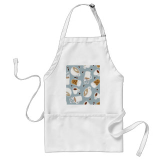 Coffee Lover Pattern Blue Standard Apron