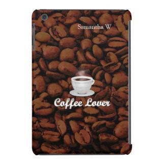 Coffee Lover, White Cup/Brown Beans iPad Mini Retina Case