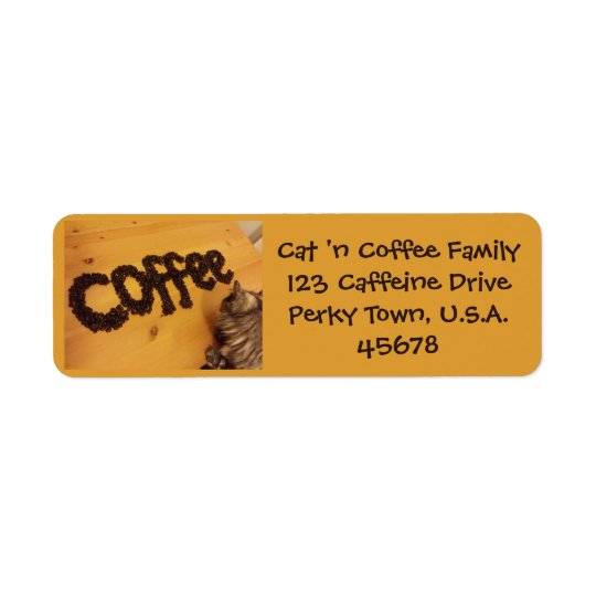 Coffee Lover's Address Label by RoseWrites