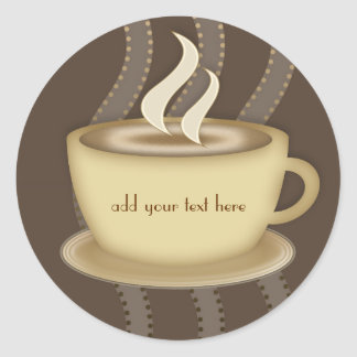 Coffee Lovers Classic Round Sticker