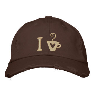 Coffee Lover's Embroidered Hat