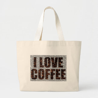 Coffee lovers large tote bag