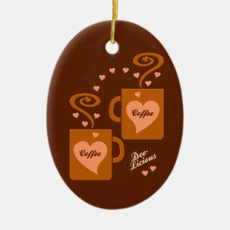 Coffee Lovers ornament, customize Christmas Ornament