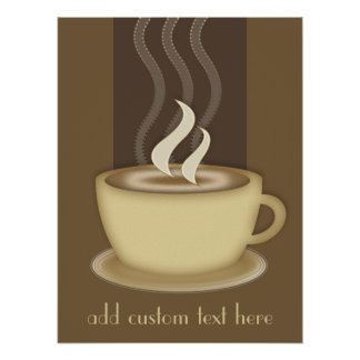 Coffee Lovers Personalised Poster