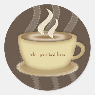 Coffee Lovers Round Sticker