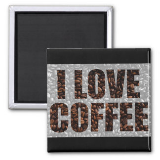 Coffee lovers square magnet