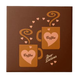 Coffee Lovers tile, customize Tile