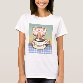 Coffee Loving Tabby T-Shirt