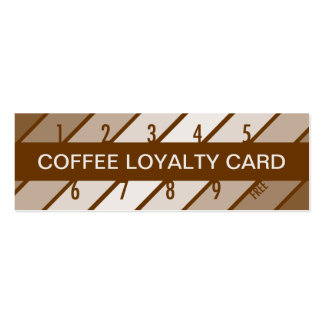 coffee loyalty card (retrograde) pack of skinny business cards
