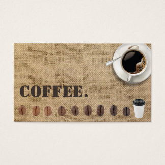 Coffee Loyalty Punch Card Rustic Burlap