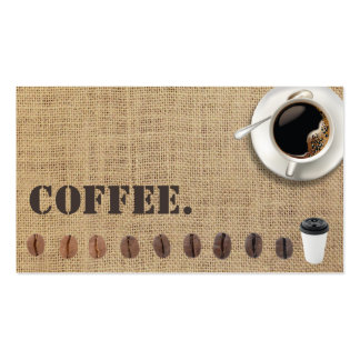 Coffee Loyalty Punch Card Rustic Burlap Pack Of Standard Business Cards