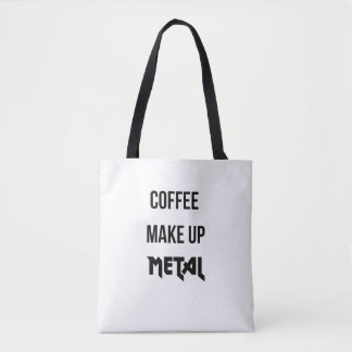 Coffee Make Up Metal Shopper Tote Bag
