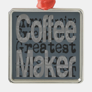 Coffee Maker Extraordinaire Christmas Ornament