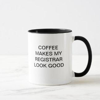 COFFEE MAKES MY REGISTRAR LOOK GOOD MUG