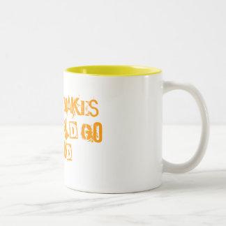 Coffee makes the world go round! Two-Tone coffee mug