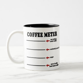 Coffee Metre (The Original Coffee Metre Mug!) Two-Tone Coffee Mug