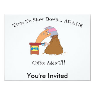"Coffee Monster 4.25"" X 5.5"" Invitation Card"