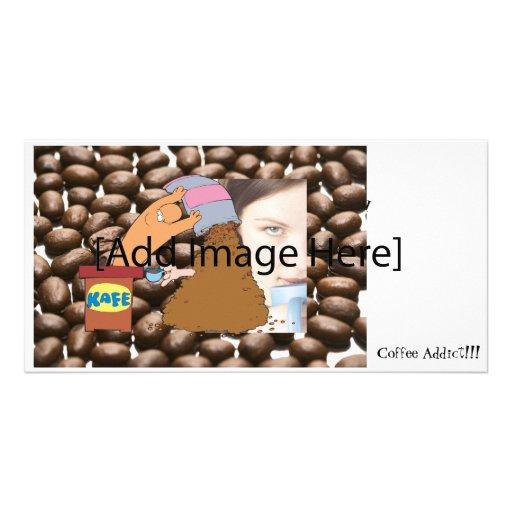 Coffee Monster Photo Greeting Card
