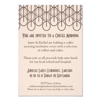 Coffee morning fundraiser event invitation