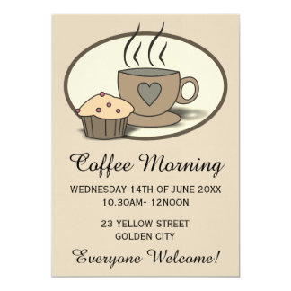 Coffee Morning Fundraising Event Invitations