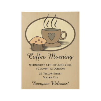 Coffee Morning Fundraising Event Poster