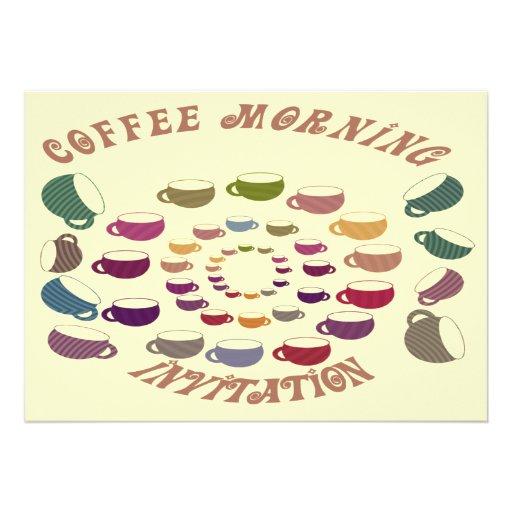 Coffee Morning Invitation Card
