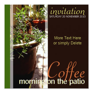 Coffee Morning on the Patio Invitation