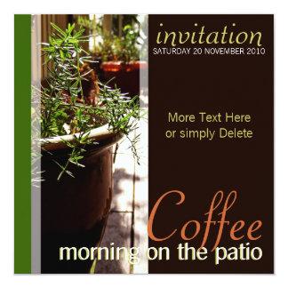 Coffee Morning on the Patio Invitation