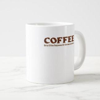 """Coffee Mug 20 Oz """"Christ Offers Forgiveness For Jumbo Mug"""
