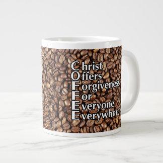 "Coffee Mug 20 Oz ""Christ Offers Forgiveness Revers Jumbo Mug"