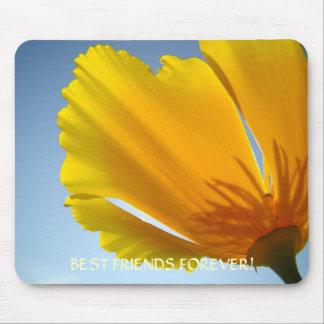 COFFEE MUG Best Friends Forever Poppy Flower Gift Mouse Pad