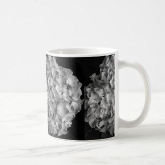 Coffee Mug Black and White Hydrangea 11oz