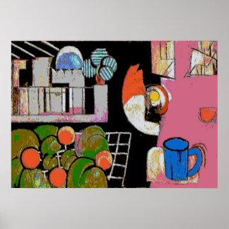 Coffee Mug Blue, Matisse Style Poster