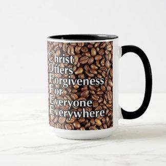 "Coffee Mug""Christ Offers Forgiveness"" Reverse Mug"