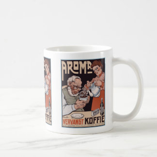 Coffee Mug:  Coffee Ad: Aroma Vergangt Koffie Basic White Mug