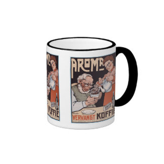 Coffee Mug:  Coffee Ad: Aroma Vergangt Koffie Ringer Mug