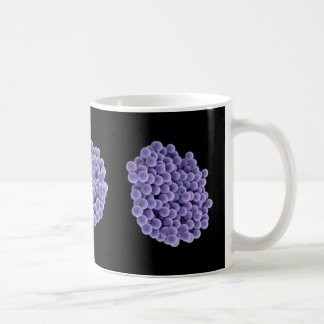 Coffee Mug - MRSA (violet on black background)