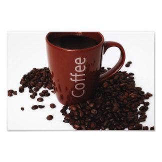 Coffee Mug on Poster Photographic Print