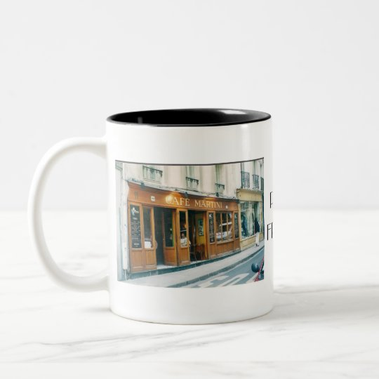 Coffee Mug/Paris Two-Tone Coffee Mug
