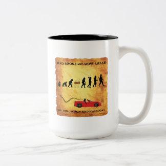 Coffee Mug This Smart Caveman Reads Books